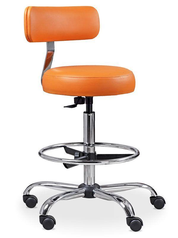 Krzesło lekarskie TB4 z podparciem na nogi i oparciem